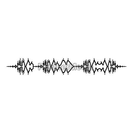 schallwellenimpulsmusikspieler audiowellenentzerrerelement das schallwellenikone schwimmt