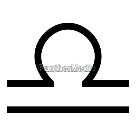 waage symbol tierkreis symbol schwarz farbe