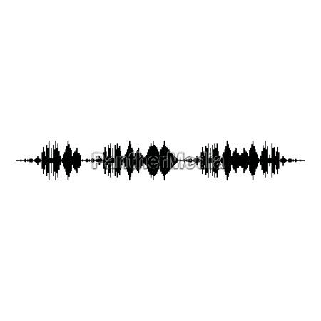 schallwellenimpulsmusikspieler audiowellenentzerrerelement das flaches einfaches bild