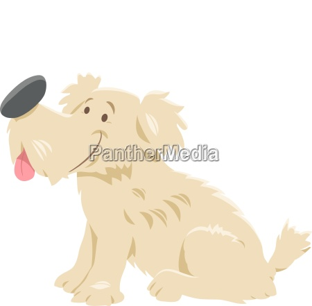 cute shaggy dog cartoon character