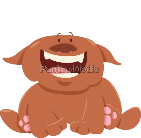 funny dog or puppy cartoon character