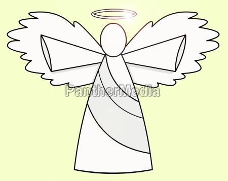religion religioes glaeubig horizontal illustration engel