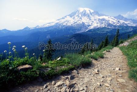pinnacle peak trail mount rainier national