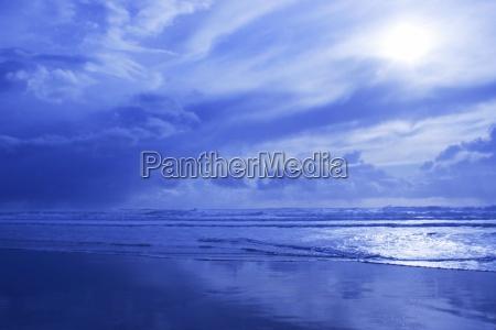 blaue wasserlandschaft