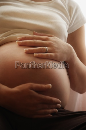 pregnant womans belly