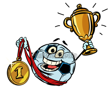first place gold medal character soccer