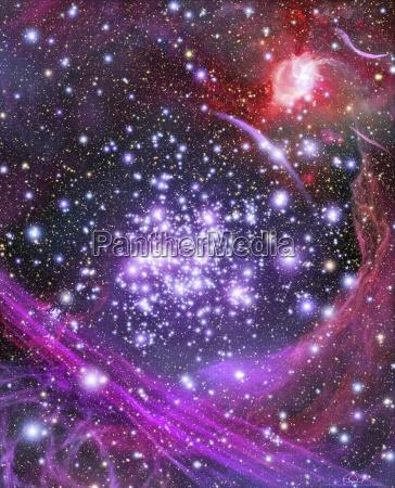 space weltraum senkrecht vertikal gestirne sterne