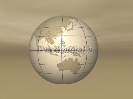 horizontal illustration waagerecht festland laender globus