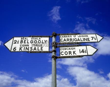 wegweiser in belgooly county cork irland