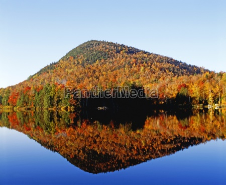 autumn colours reflected in water eastern