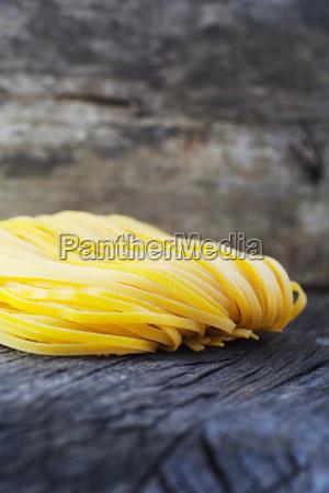 fresh pasta on wood