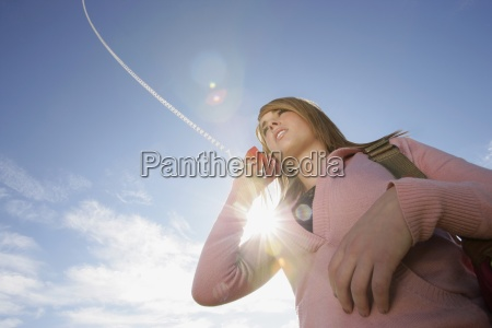 low angle view of a woman