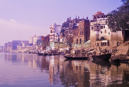 ghats on the bank of the