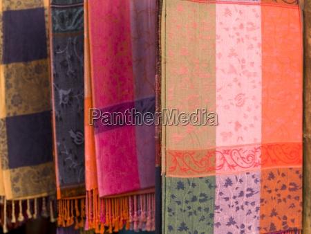 indian fabric on display cochin kerala