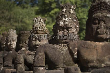 stone statues city of angkor wat