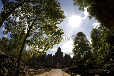 the bayon temple in the ancient