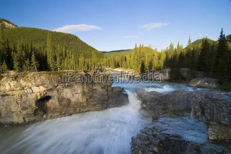waterfall elbow river kananaskis country alberta