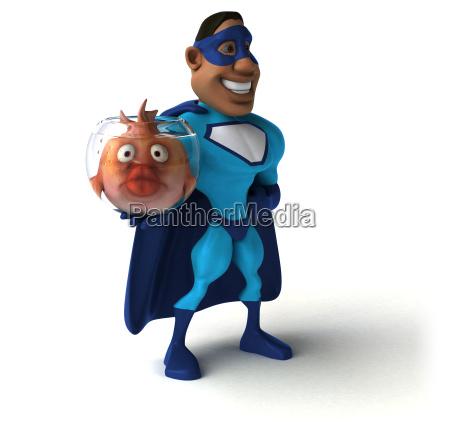 fun superhero 3d illustration
