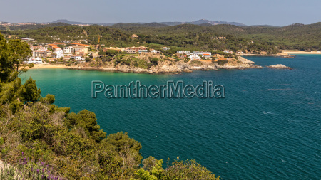 beautiful bay in costa brava village