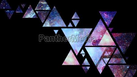 abstrakte galaxie geometrische hintergrund elemente dieses