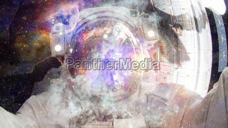 astronaut im weltraum elemente dieses bildes