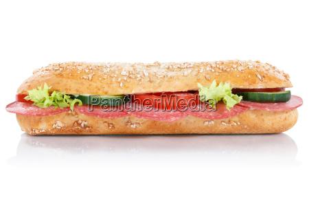 broetchen sandwich vollkorn baguette belegt mit