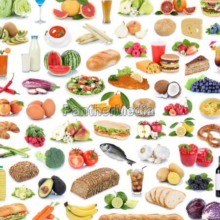 collection collage food healthy food fruit