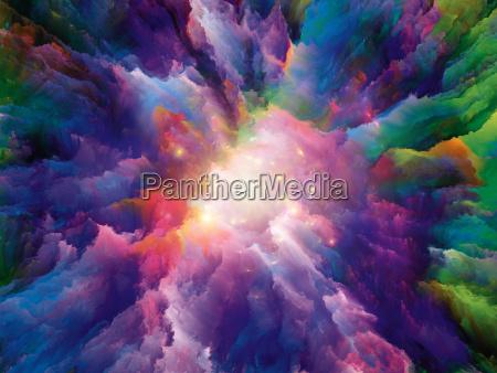 energie der surrealen farbe