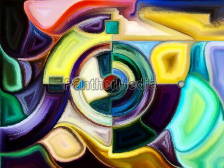 abstraktes muster des buntglases