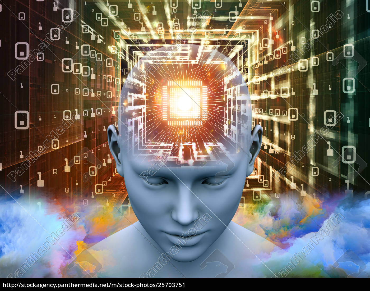 vision, des, denkens - 25703751