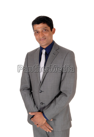middle age business man in gray