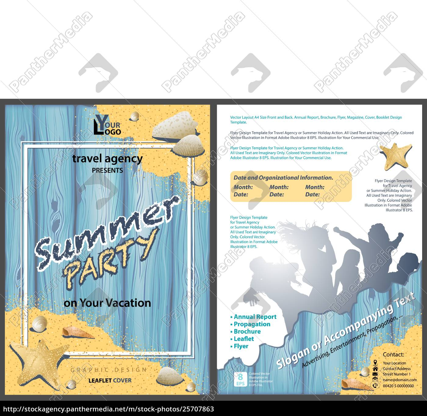 faltetvorlage, sommerparty - 25707863