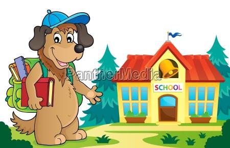 school dog theme image 5