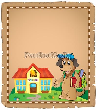 school dog theme parchment 1