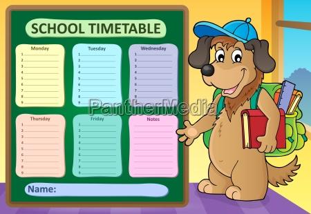 weekly school timetable design 8