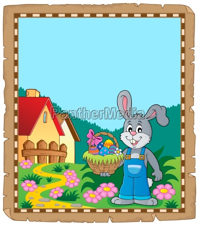 parchment with easter bunny topic 9