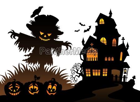 halloween vogelscheuche silhouette thema 3