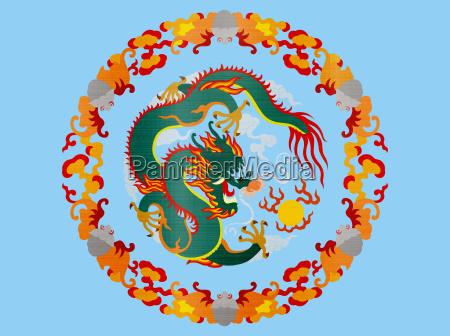 chinese dragon circle legendary creatures metallic