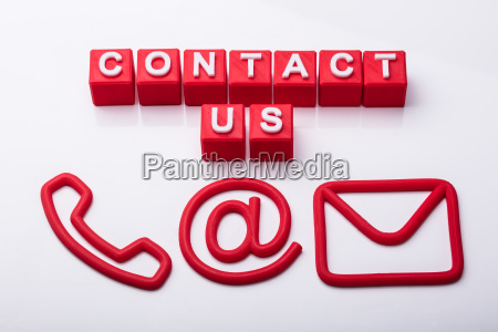 communication options with contact us cubes