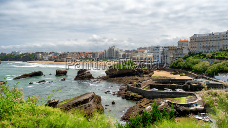 blick auf den strand von biarritz