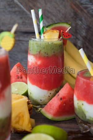 smoothie with fruit and yoghurt
