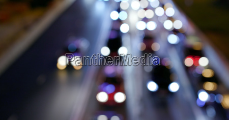 blur view of city traffic at