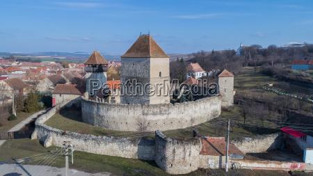 the calnic fortress transylvania romania