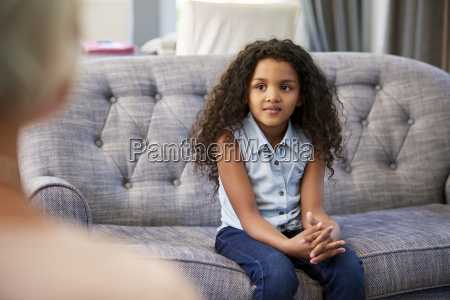 young girl having therapy with a