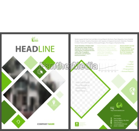 abstract flyer template with squares