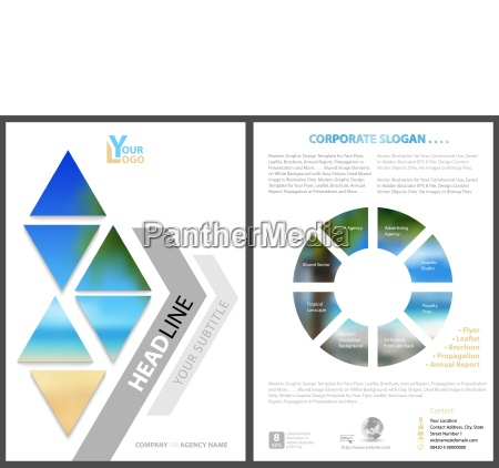 modern flyer template with geometric elements