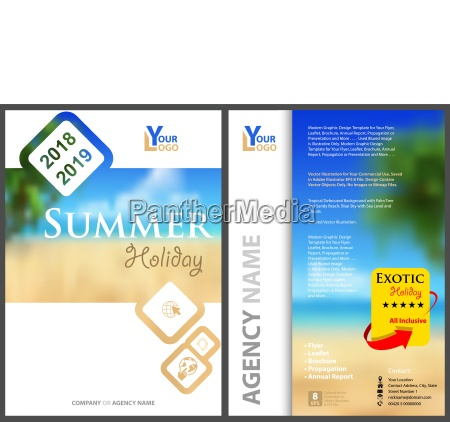 flyer template summer holiday