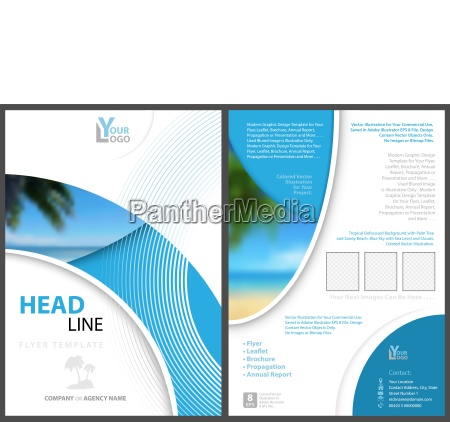 elegant flyer template with geometric shapes