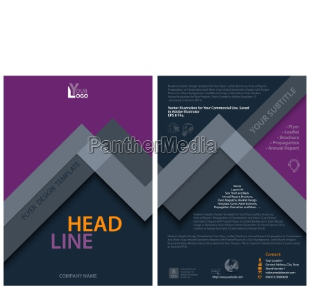 abstract modern flyer template