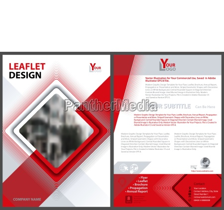 flyer template with square and lines